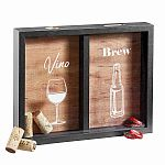 wine cork and beer cap holder shadow box