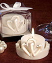 Interlocking Hearts Design <i>Favor Saver</i> Candles