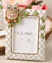 Vintage owl themed place card and photo frame