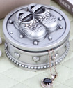 Baby shoe design trinket box