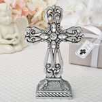 Pewter cross statue with antique accents from fashioncraft