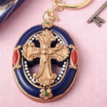Gold Cross themed Keychain from Fashioncraft®