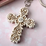 Baroque design Vintage cross themed key chain