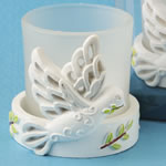 Elegant white Dove Candle from fashioncraft