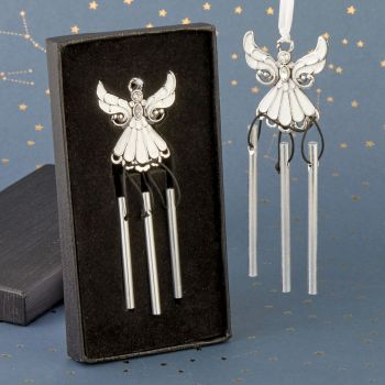 Metal with White epoxy Angel Wind Chime
