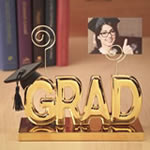 Luxurious Grad clip picture holder in Gold From Gifts by Fashioncraft®