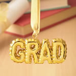Gold Grad hanging Ornament from gifts by Fashioncraft®