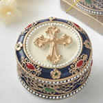 Cross Rosary box - trinket box