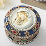 Madonna and Child Rosary box - trinket box