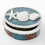 knit style beach covered box from gifts by fashioncraft