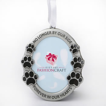 pet memorial ornament - no longer by our side, forever in our hearts - gift box