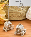 Vintage Pumpkin Coach place card holder and photo frame
