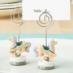 Carousel horse placecard or photo holder from fashioncraft