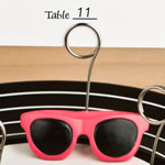 Sunglasses design placecard or photo holders from Fashioncraft®