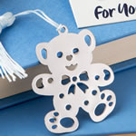 Lovable teddy bear design bookmark favors from the book lovers collection.