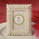 Ivory and brushed Gold leaf design place card frame / photo frame