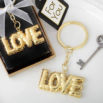Love themed key chain finished with a mylar balloon design