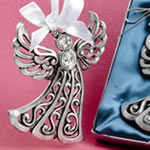 Silver Guardian Angel Ornament from Fashioncraft®