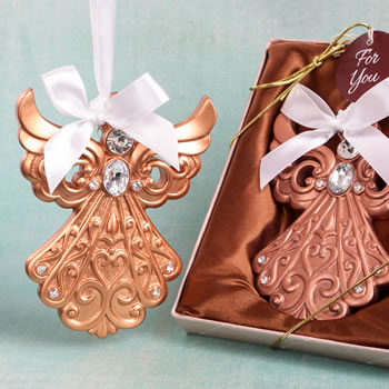 Rose Gold Guardian Angel Ornament from Fashioncraft