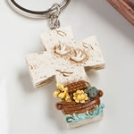 Cross key chain with a Noah's ark design from fashioncraft