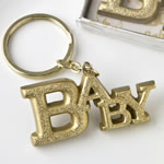 Luxurious Gold Baby themed key chain from fashioncraft