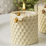 Honey comb design tealight candle holder from fashioncraft