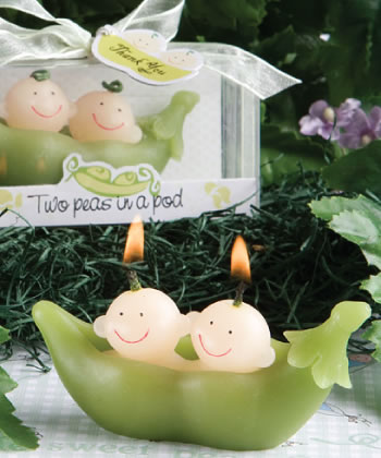 <em> Two Peas In A Pod  Collection</em> Candle Favors