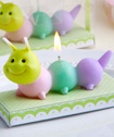 Adorable baby caterpillar candles