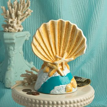 Beach Shell Savings Bank from Gifts By Fashioncraft