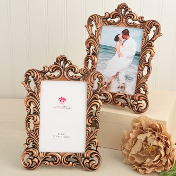 Vintage copper color Baroque design 4 x 6 frames.: Fashioncraft