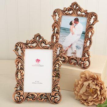 vintage copper color baroque design 4 x 6 frames