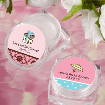 personalized lip balm bridal shower