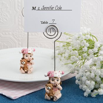 Vintage Baby Girl Place Card Holder from Fashioncraft®