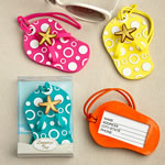 Flip Flop luggage tags in decorative 24 piece display box