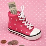Pink Ceramic Sneaker Bank