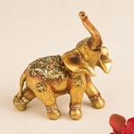 Glorious good luck decorative mini elephant from gifts by fashioncraft