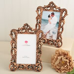 Vintage copper color Baroque design 4 x 6 frames.