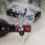 Elegant Snowflake Design Wine Bottle Stopper Favors