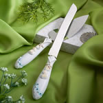 <em>Finishing Touches Collection</em> Beach  Themed Wedding Cake Knife And Server Set