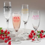 "Champagne Flute: Greek Designs <span class=""smaller"">(gift boxes available)</span>"
