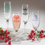 "Champagne Flute - Holiday Designs <span class=""smaller"">(gift boxes available)</span>"
