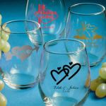 "Personalized Stemless Wine Glasses <span class=""smaller"">(gift boxes available)</span>"