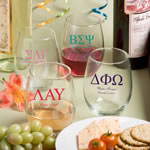 "15 Ounce Stemless Wine Glasses: Greek Designs <span class=""smaller"">(gift boxes available)</span>"