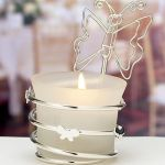 Butterfly-Design Candleholders / Place Card Holders