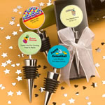 <em>Design Your Own Collection</em> Wine  Bottle Stopper Favors - Holiday