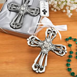 Silver Cross Ornament with Antique Finish from Fashioncraft®