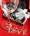 LOVE Wine Charms baby favors