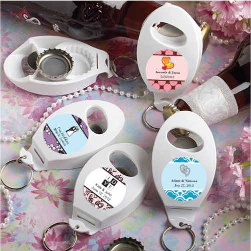 120 personalized bottle opener keychain wedding favors ebay. Black Bedroom Furniture Sets. Home Design Ideas