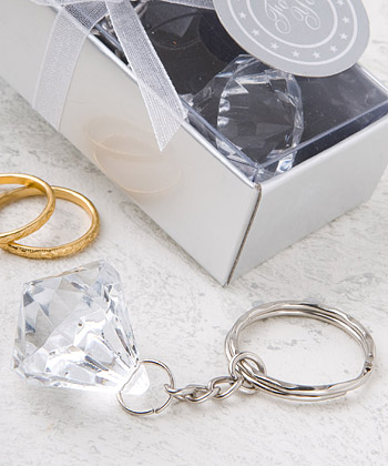 <em>Crystal Clear Collection</em> diamond design key chain