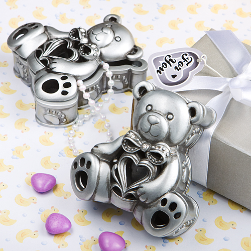 details about 50 teddy bear curio box christening baby shower favors
